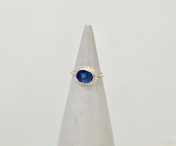 Young In The Mountains Full Wing Ring - Azurite