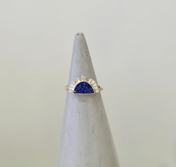 dd369f1738f Young In The Mountains Rising Sol Ring - Azurite