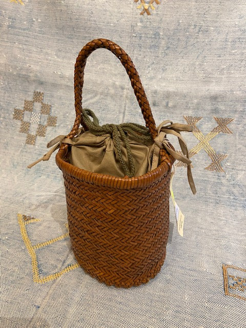 Dragon Diffusion Kamakura 3 Round Bucket Bag - Dark Tan
