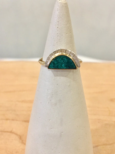 Young In The Mountains Selene Ring in Chrysocolla