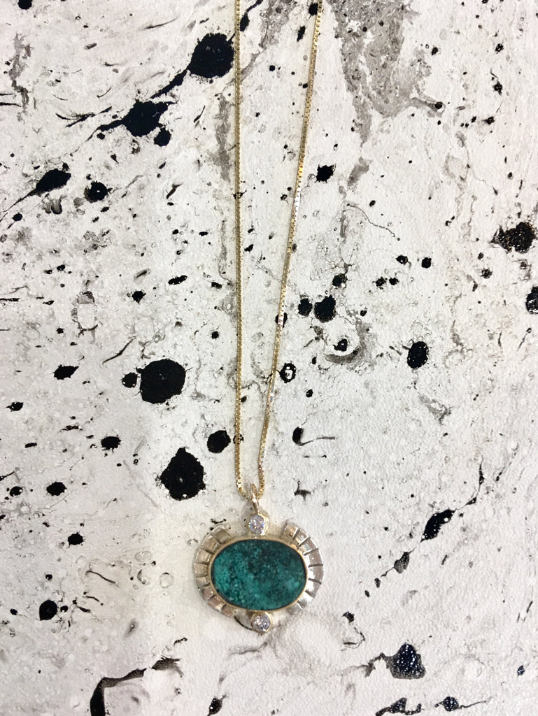 Young In The Mountains Sol Necklace - Chrysocolla