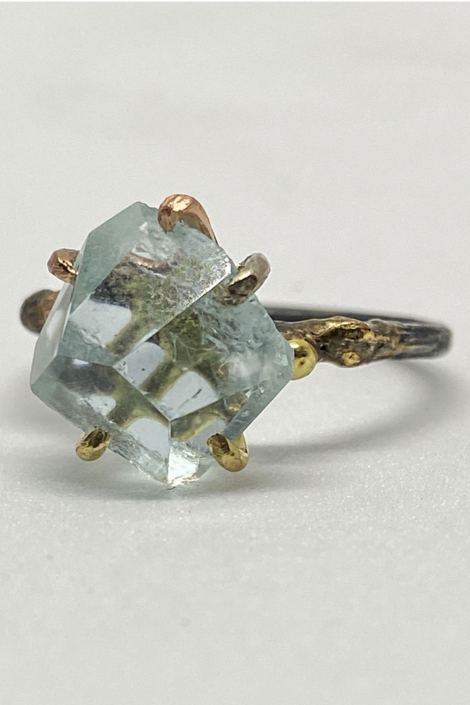 Variance Object Aquamarine Small Stone Ring