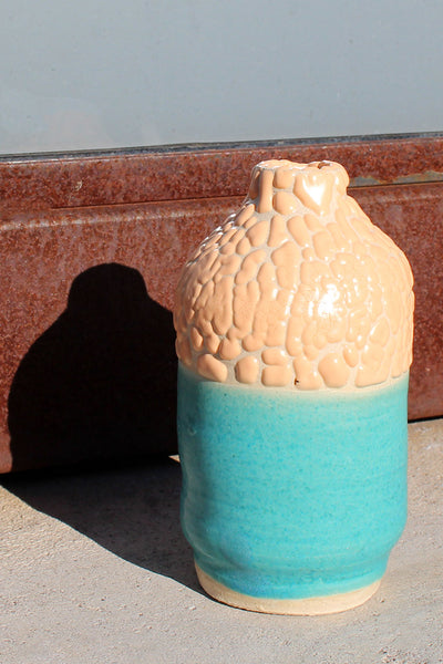 Raina Lee Small Turquoise and Cream Volcanic Vase