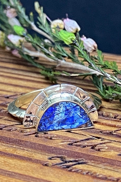 Young In The Mountains Azurite Selene Ring