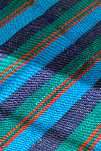 Blue Stripe Yoga Blanket