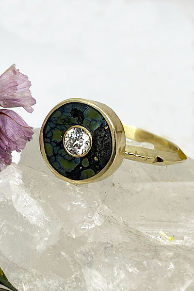 Young in the Mountains Cerclen Colina Verde Variscite Ring