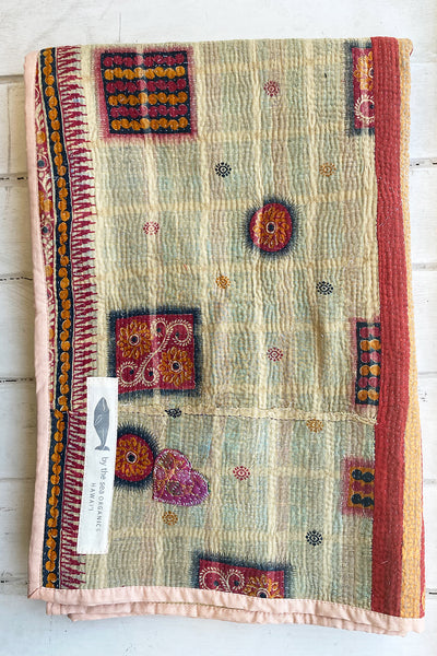 Under the Sea Portable Kantha Quilt