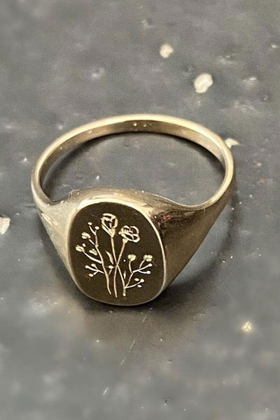 Claus Jewelry Wild Flower Signet Ring