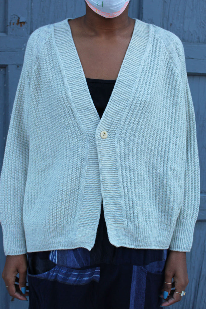 Tamaki Niime Light Grey Sayu Cardigan