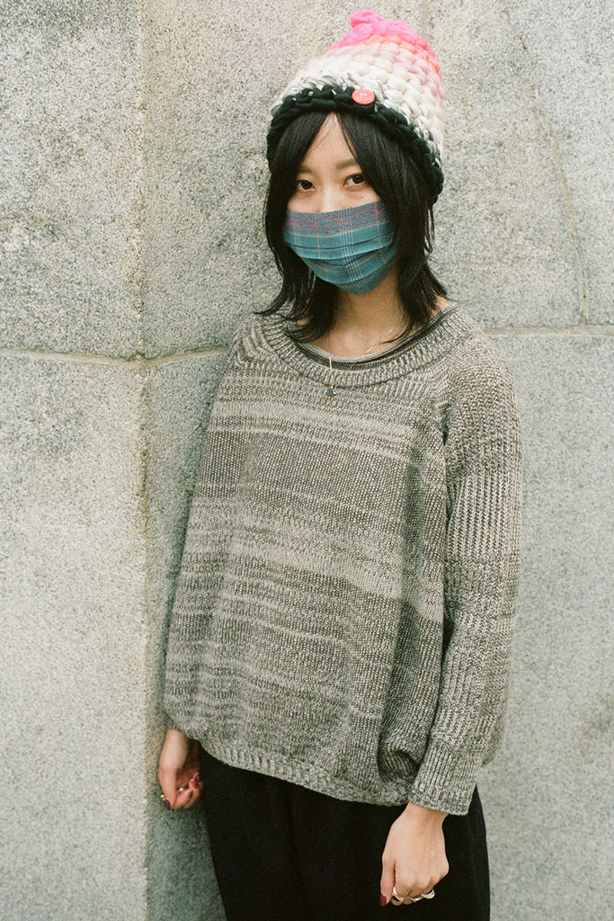 Tamaki Niime Grey GOOD Knit Sweater