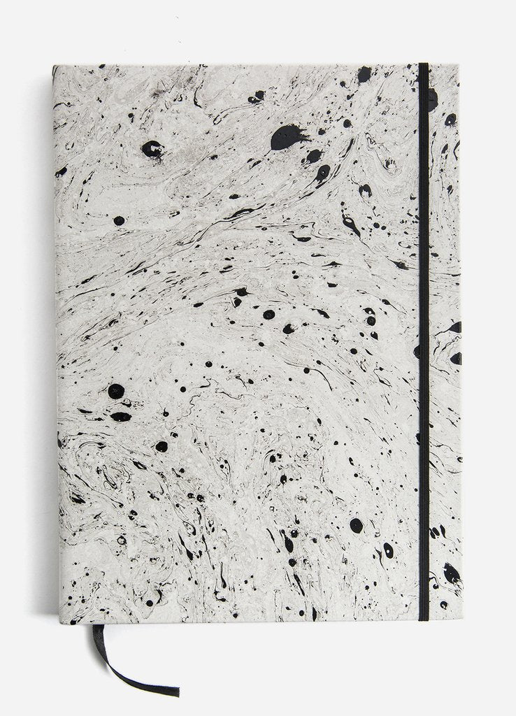 Hand-dipped Marble Oversized Leather Sketchbook