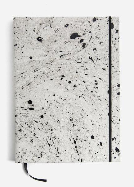 de1d660ae7a Hand-dipped Marble Oversized Leather Sketchbook