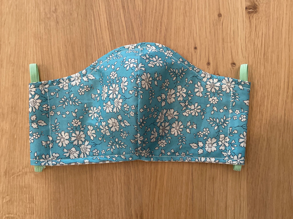 Liberty of London Fabric Face Mask - Sky Blue Foral
