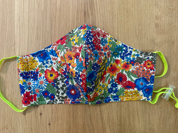 Liberty of London fabric Face Mask- Margaret Annie Blue
