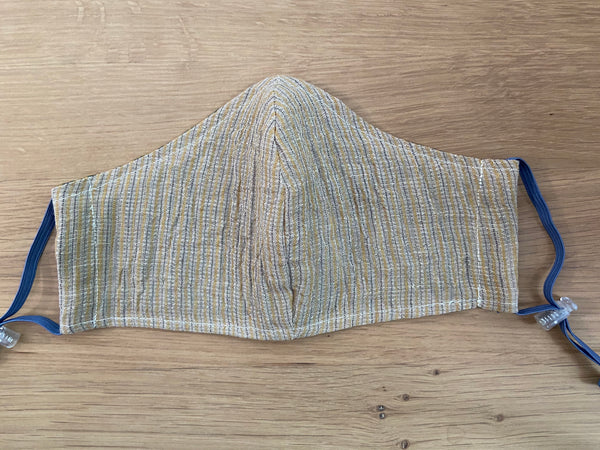 Men's Face Mask - Striped Linen Gauze