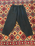 MUKU Black Pleated Edge Pants