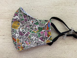 Men's Liberty of London Face Mask - Map Print