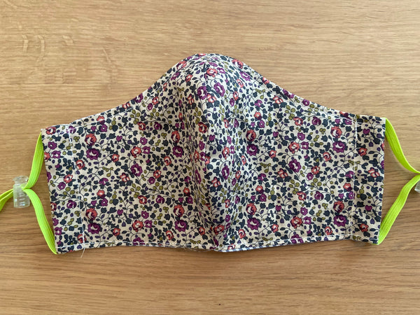 Liberty of London fabric Face Mask - Eloise plum