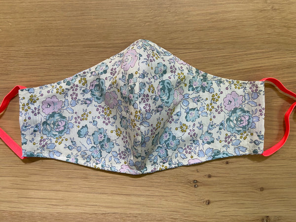 Liberty of London fabric Face Mask- Felicity sweet blue