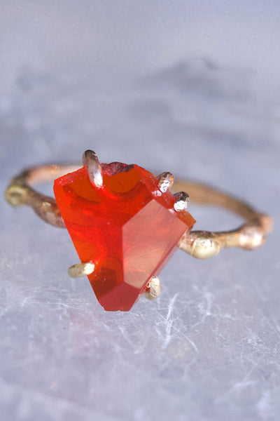 Variance Objects Mexican Fire Opal Ring