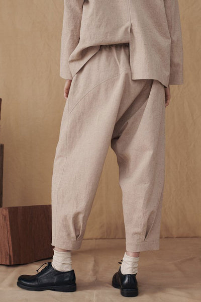 MUKU Sand Pleated Edge Pants