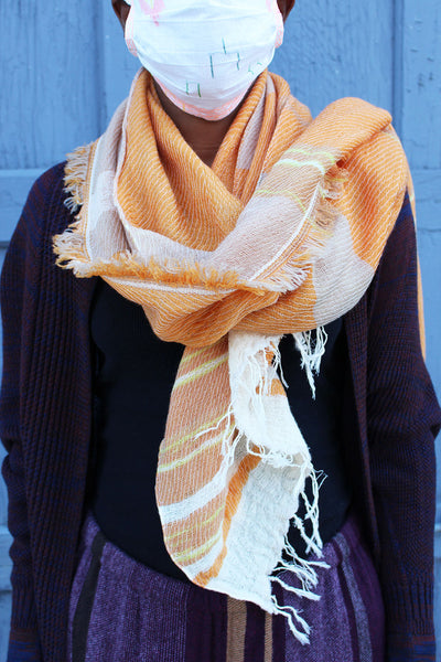 Tamaki Niime Light Orange Scarf