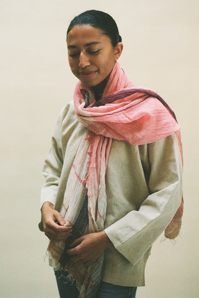 Tamaki Niime Light Pink Scarf