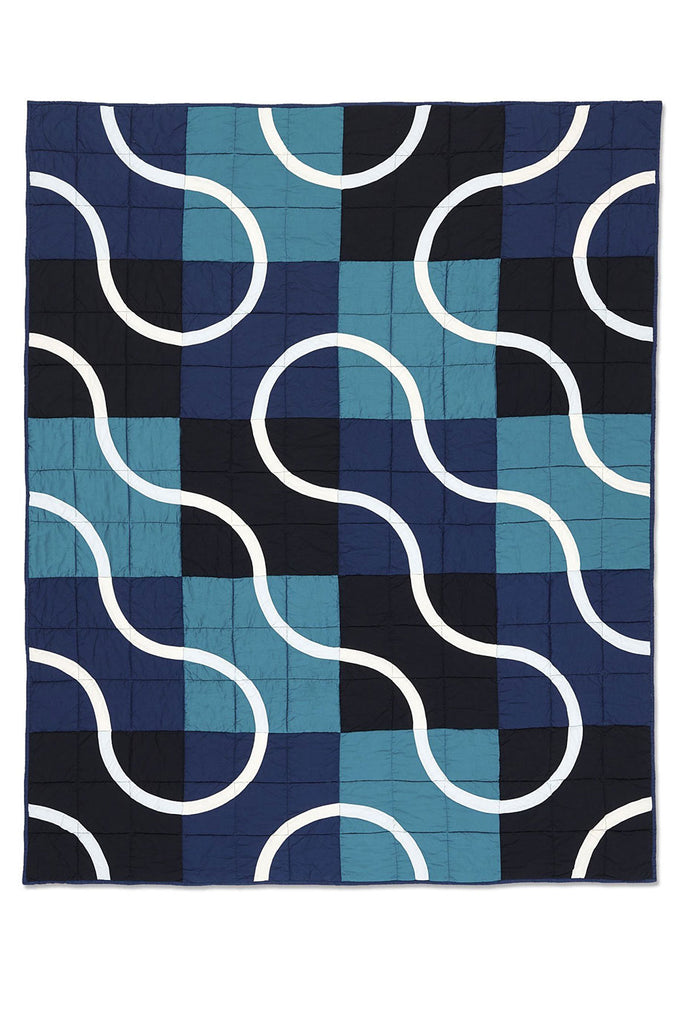 Haptic Lab Snake Path Blue Quilt