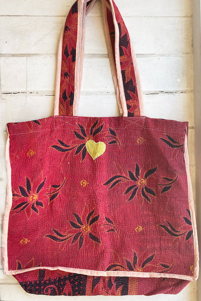 Sunset Dance Kantha Tote Bag