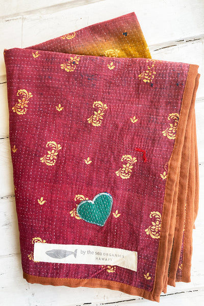 Twilight Portable Kantha Quilt
