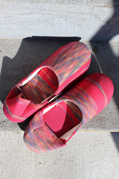 Tamaki Niime Red Scuff House Slippers