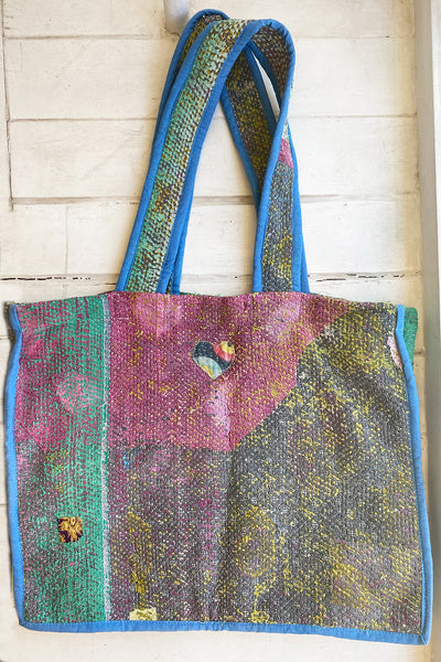 Sea Moss Kantha Tote Bag