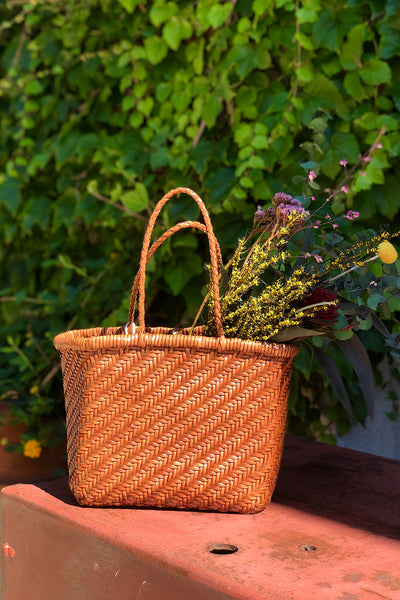 Dragon Diffusion Kamakura 1 Medium Basket Bag- Tan