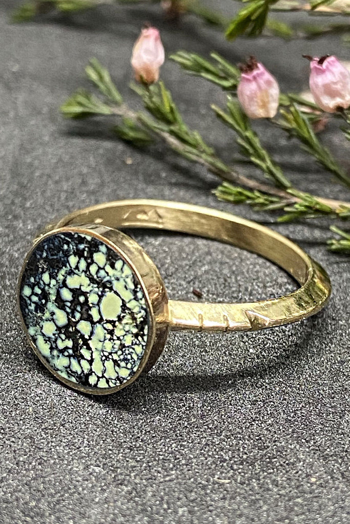Young in the Mountains Peacock Turquoise Solis Ring