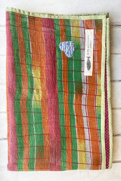 Sunset Love Portable Kantha Quilt