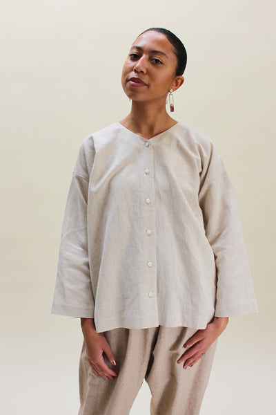 Muku Beige Button Up Shirt