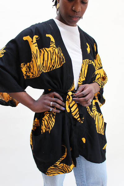 Emerson Fry Black Tiger Robe