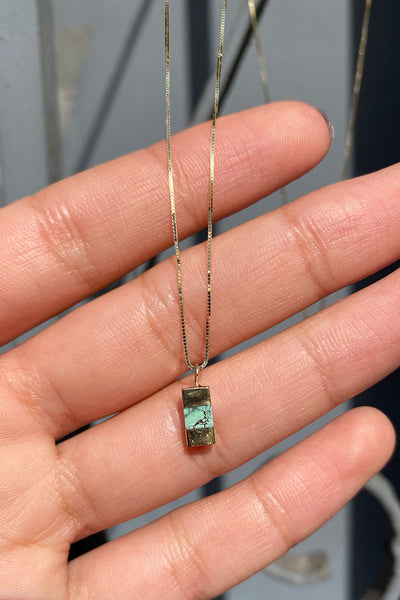 Young In The Mountains Keel Necklace in Colina Verde Variscite Stone