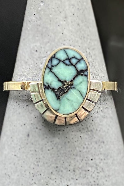 Young In The Mountains Peacock Turquoise Vita Ring