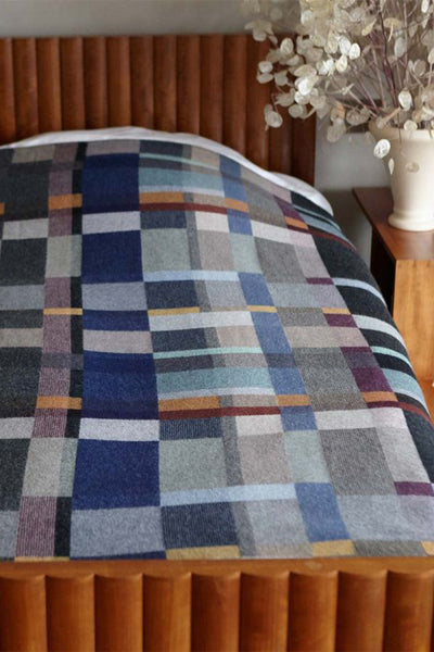 Wallace Swell Lambswool Erno Block Throw