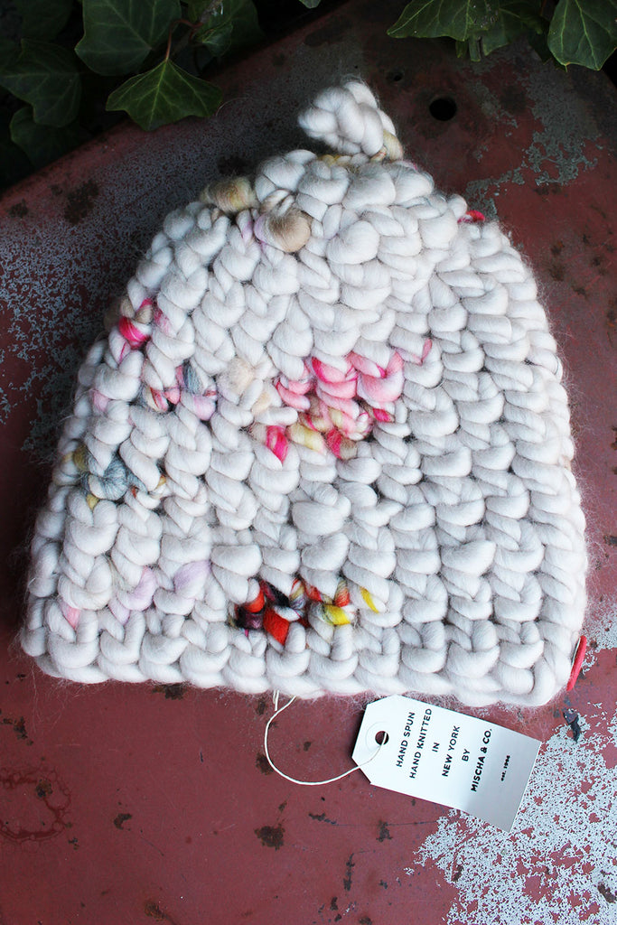 Mischa & Co Knit White/Multi Beanie