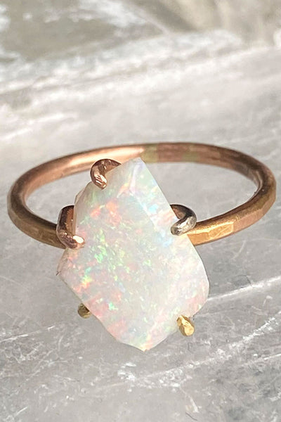 Variance Objects Medium Exceptional Australian Opal Rose Gold Ring