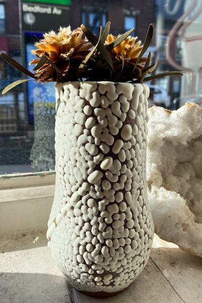 Raina Lee Medium White Volcanic Vase