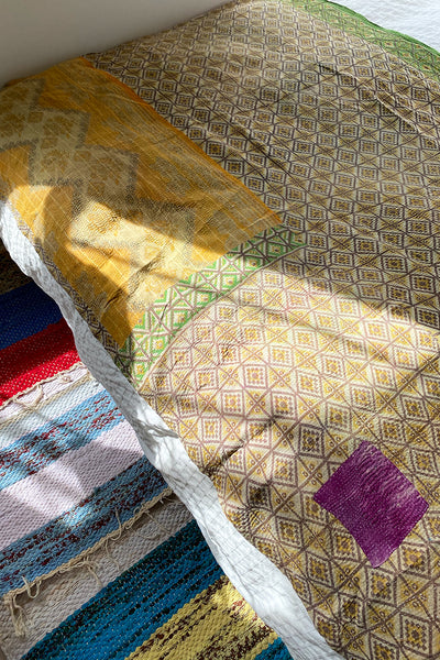 Yellow Gold Kantha Quilt