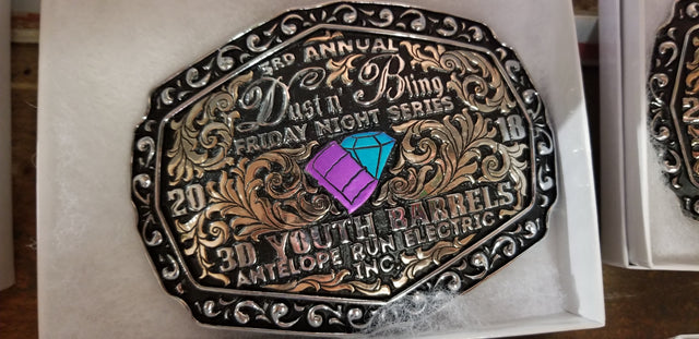 Dust n' Bling Productions belt buckle award