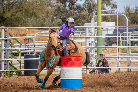 Makayla: sponsored athlete and barrel racer
