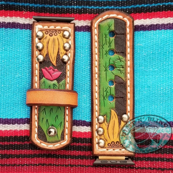 Sunflower and Cactus Watch Band