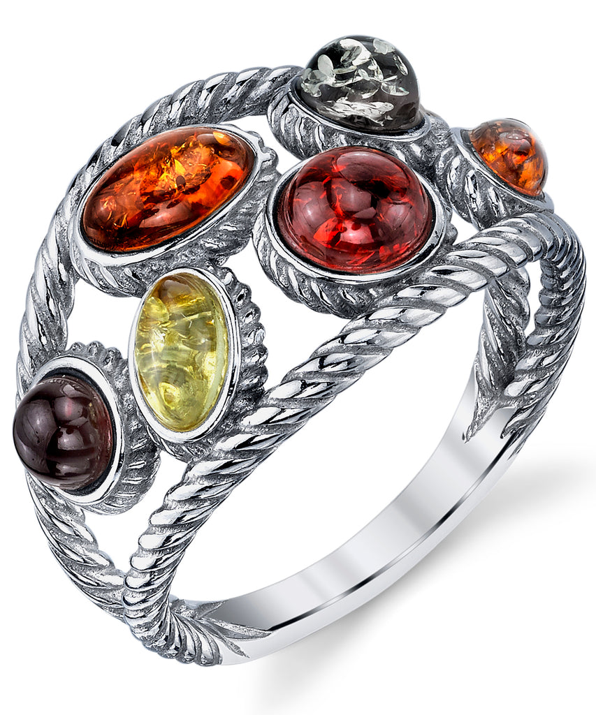 Titanium Ring Grooved with Braided Sterling Silver Inlay 8mm