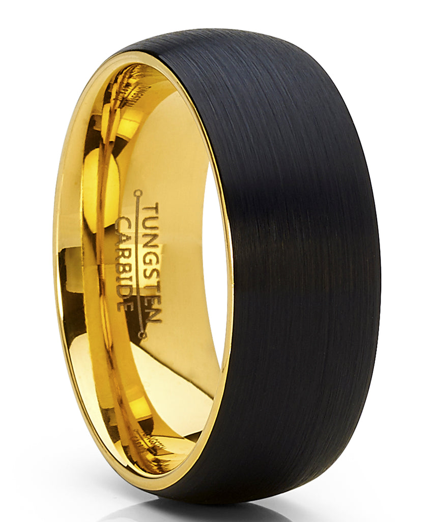Cumstom Engraving 9mm Tungsten Comfort Fit Wedding Band Promise Ring Cross Engraved Black Beveled Edges Ring