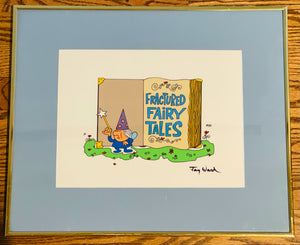 Fractured Fairy Tales Hand-Painted Scene Cel SIGNED by Jay Ward 1988 Rocky and Bullwinkle Show - The Cricket Gallery